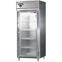Continental DL1RX-SS-GD 36 inch Glass Door Extra Wide Reach-In Refrigerator