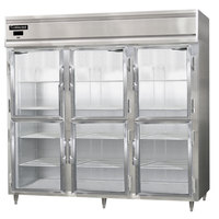 Continental DL3RE-SS-GD-HD 86 inch Half Glass Door Extra Wide Reach-In Refrigerator