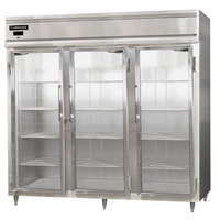 Continental DL3RE-SS-GD 86 inch Glass Door Extra Wide Reach-In Refrigerator