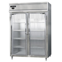 Continental DL2RES-SS-GD 57 inch Glass Door Extra Wide Shallow Depth Reach-In Refrigerator