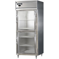 Continental DL1RX-SS-GD-HD 36 inch Half Glass Door Extra Wide Reach-In Refrigerator