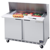 Beverage-Air SPE48HC-18M Elite Series 48 inch 2 Door Mega Top Refrigerated Sandwich Prep Table