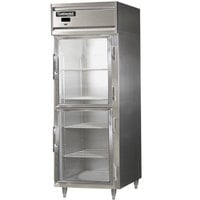 Continental DL1RE-GD-HD 29 inch Half Glass Door Extra Wide Reach-In Refrigerator