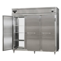 Continental DL3RFFE-SS-PT 86 inch Solid Door Extra-Wide Dual Temperature Pass-Through Refrigerator/Freezer/Freezer