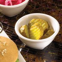 Hall China 44610ABWA SoHo 4 oz. Round Bright White China Sauce Dish - 24/Case
