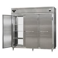 Continental DL3RRFE-SS-PT 86 inch Solid Door Extra-Wide Dual Temperature Pass-Through Refrigerator/Refrigerator/Freezer
