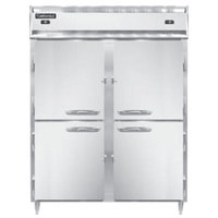 Continental DL2RFE-SS-PT-HD 57 inch Solid Half Door Extra-Wide Dual Temperature Pass-Through Refrigerator/Freezer