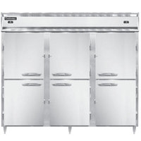 Continental DL3RFFE-SS-PT-HD 86 inch Solid Half Door Extra-Wide Dual Temperature Pass-Through Refrigerator/Freezer/Freezer