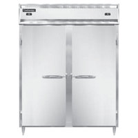Continental DL2RFE-SS-PT 57 inch Solid Door Extra-Wide Dual Temperature Pass-Through Refrigerator/Freezer