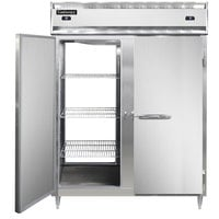 Continental DL2RFE-PT 57 inch Solid Door Extra-Wide Dual Temperature Pass-Through Refrigerator/Freezer