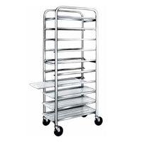 Winholt AL-1210 End Load Aluminum Platter Cart - Ten 12 inch Trays