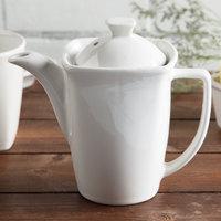 Hall China 44770ABWA SoHo 16 oz. Bright White China Teapot - 12/Case