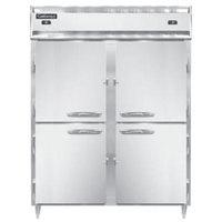 Continental DL2RFE-PT-HD 57 inch Solid Half Door Extra-Wide Dual Temperature Pass-Through Refrigerator/Freezer