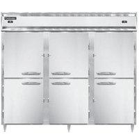 Continental DL3RRFE-SS-PT-HD 86 inch Solid Half Door Extra-Wide Dual Temperature Pass-Through Refrigerator/Refrigerator/Freezer