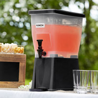 Choice 3 Gallon Black Slim Beverage / Juice Dispenser