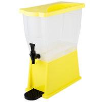 Choice 3 Gallon Yellow Slim Beverage / Juice Dispenser