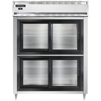 Continental DL2RE-SS-SGD-HD 57 inch Extra-Wide Half Sliding Glass Door Reach-In Refrigerator