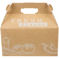 9 1/2 inch x 5 inch x 5 inch Barn Take Out Lunch Box / Chicken Box with Fresh Print Design   - 100/Case