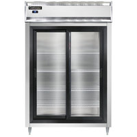 Continental DL2R-SS-SGD 52 inch Sliding Glass Door Reach-In Refrigerator