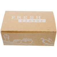 7 inch x 4 1/4 inch x 2 3/4 inch Take Out Lunch / Snack / Chicken Box with Fresh Print Design   - 250/Case