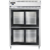 Continental DL2R-SGD-HD 52 inch Half Sliding Glass Door Reach-In Refrigerator