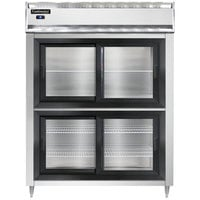 Continental DL2RE-SA-SGD-HD 57 inch Extra-Wide Half Sliding Glass Door Reach-In Refrigerator