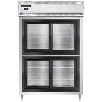 Continental DL2RS-SS-SGD-HD 52 inch Shallow Depth Half Sliding Glass Door Reach-In Refrigerator