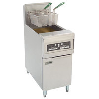 Frymaster PMJ145C-BL Natural Gas Fryer 50 lb. with Basket Lift and Computer Magic Controls - 122,000 BTU