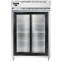 Continental DL2RS-SGD 52 inch Shallow Depth Sliding Glass Door Reach-In Refrigerator