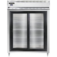Continental DL2RE-SGD 57 inch Extra-Wide Sliding Glass Door Reach-In Refrigerator