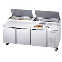 Beverage-Air DP93HC 93 inch Three Door Refrigerated Pizza Prep Table