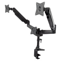 360 Office Furniture WellFit Black Triple Monitor Desk-Mount Arm