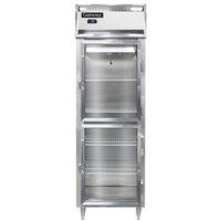 Continental DL1FS-GD-HD 26 inch Shallow Depth Half Glass Door Reach-In Freezer