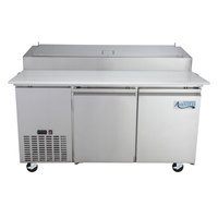 Avantco PICL2-60-HC 60 inch 2 Door Refrigerated Pizza Prep Table
