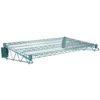 Regency 24 inch x 36 inch Green Epoxy Wire Wall Mount Shelf