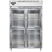 Continental DL2FS-SA-GD-HD 52 inch Shallow Depth Half Glass Door Reach-In Freezer