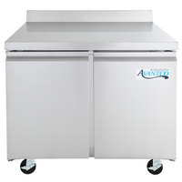 Avantco SS-WT-36R-HC 36 inch Worktop Refrigerator with 3 1/2 inch Backsplash