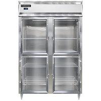 Continental DL2FS-GD-HD 52 inch Shallow Depth Half Glass Door Reach-In Freezer