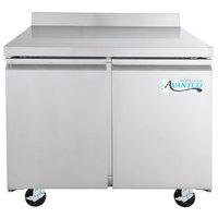 Avantco SS-WT-36F-HC 36 inch Two Door Worktop Freezer with 3 1/2 inch Backsplash
