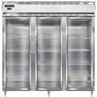Continental DL3F-SS-GD 78 inch Glass Door Reach-In Freezer