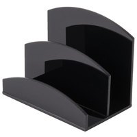 Cal-Mil 399 Black Acrylic Hotel Room Packet Organizer