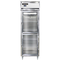 Continental DL1FS-SS-GD-HD 26 inch Shallow Depth Half Glass Door Reach-In Freezer