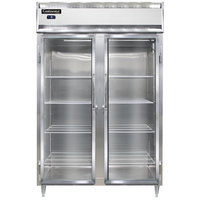 Continental DL2FS-SS-GD 52 inch Shallow Depth Glass Door Reach-In Freezer