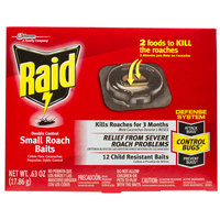 SC Johnson Raid® 619856 Double Control 12-Count Small Roach Baits