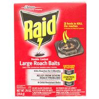 SC Johnson Raid® 619862 Double Control 8-Count Large Roach Baits - 6/Case
