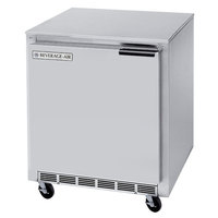 Beverage-Air UCR27AHC-24-23 27 inch Low Profile Undercounter Refrigerator with Left Hinge Door