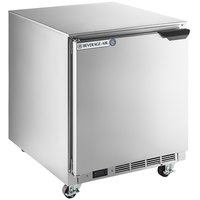 Beverage-Air UCR27AHC-24-23 27 inch Low Profile Undercounter Refrigerator with Left Hinged Door