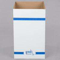 Lavex Janitorial 40 Gallon White Corrugated Cardboard Trash and Recycling Container