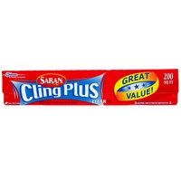 SC Johnson Saran™ 073681 Cling Plus 200 Sq. Ft. Plastic Wrap - 12/Case