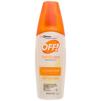 SC Johnson OFF!® 654458 6 oz. FamilyCare Unscented Insect Repellent IV - 12/Case